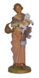 Pastore donna con pecora
