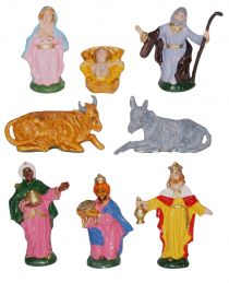 8 pc nativity set