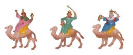 Set 3 Re Magi a cammello
