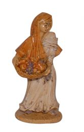 Pastore donna con cesto